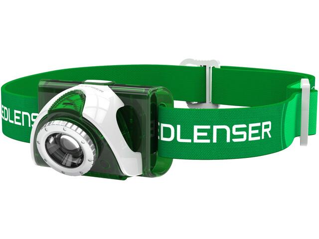 Led Lenser LED SEO 3 Linterna frontal, green
